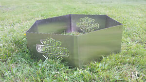 Custom Stainless steel Fire Pit. Harley Davidson