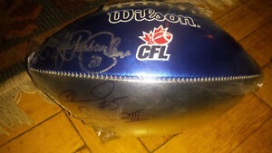 Mike pinball clemens autographed CFL football (Argos)