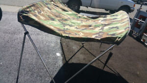 Camo  Bimini top for 5ft wide boats new was $500 never been used