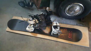 Atomic Dream Rider board with bindings and boots