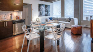 Luxury furnsihed 2BR apt downtown Montreal 1200 St-Alexandre