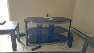 Very Nice tv stand.. Black Glass