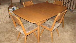 SOLID TEAK TABLE & CHAIR SET!