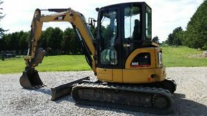 Excavator with  3 buckets and attachments
