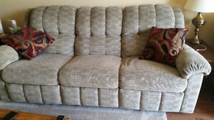 Reclining couch and chair set