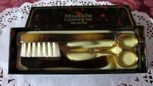 Moustache Grooming Set Made West Germany - Mens Shaving Grooming