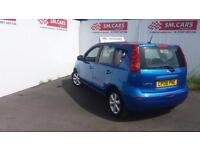 2008 08 NISSAN NOTE 1.4 16V ACENTA.FULL NISSAN S/H,NEW CLUTCH.FINANCE AVAILABLE.