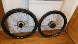 """Bicycle wheel sets: 27.5"""" with cassette, hub and disc."""