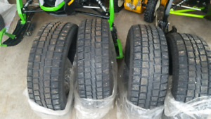 Studded winter tires.  215 70 16