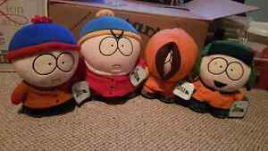 "1998 15"" South Park Plush characters. Stan, Cartmen, Kenny+Kyle"