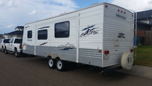 Truck and holiday trailer for sale.