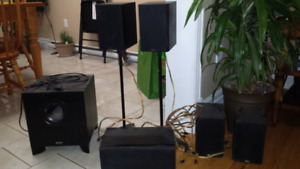 Yamaha receiver and 5.1 speakers (energy)