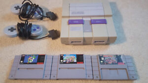 SNES and 3 Classic Games