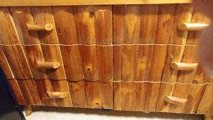 LIVE EDGE LOG CABIN 4PCS BED SET - PRICES REDUCED