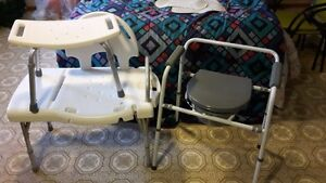 Handicap Bath Access Chairs and Portable Toilet