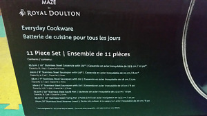 Brand New 11 Piece Stainless Steel Cookware by Royal Doulton