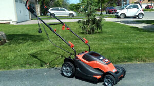 Electric Lawnmower and Rechargeable Trimmer for sale