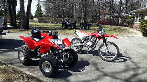 230 CRF AND TRX 250X  FOR SALE