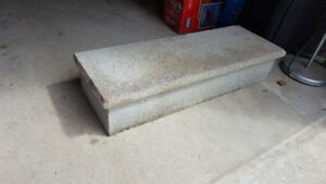 "Concrete Step - 36"" wide by 8"" tall by 12"" deep"