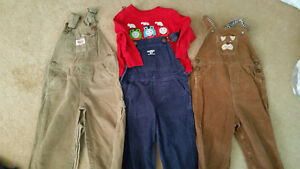 2 Corduroy Overalls, 1 Corduroy Overall Outfit 12mths