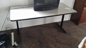 Two fold down tables brown $25  commercial white $75 London Ontario image 2