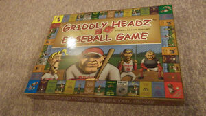 GRIDDLY HEADZ BASEBALL BOARD GAME [new]