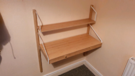 Ikea wall mounted bamboo desk
