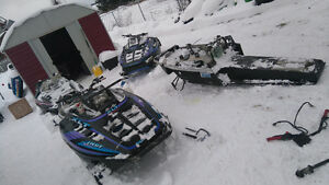 parting out 4 polaris xlt sleds lots of parts