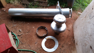 Oil furnace flue pipe with cap