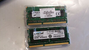 2 x 4GB 204-Pin DDR3 SO-DIMM DDR3L 1600 (PC3L 12800) Laptop