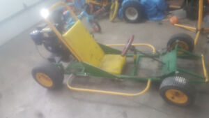 6.5hp GOKART WITH NEW ENGINE NEW CLUTCH NEW BREAKS ONLY 400$