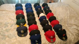 Complete set of authentic new era 59fifty on-field MLB ball caps