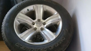 20 inch OEM Dodge Ram 1500 rims with tires