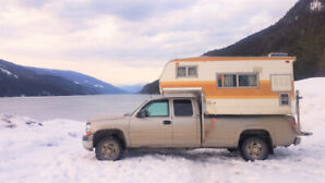 Truck and Truck Camper Combo