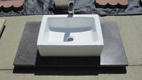 Bathroom granite counter tops ,sinks and faucet