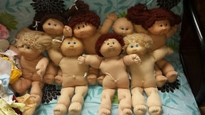 Vintage cabbage patch kid dolls and clothes