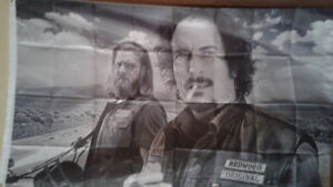 Sons Of Anarchy Banner & Flags & Pull String Backpack Bags