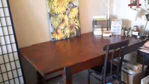 Well built solid wood table