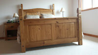 Santa Fe / Mexican Queen Bed Frame, Dresser, Night Tables