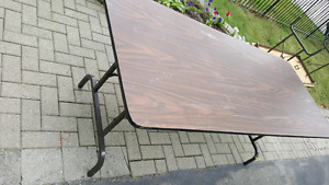 Two large garage sale tables