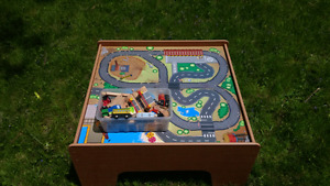 Childrens train table with accessories