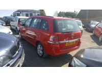 2012 Vauxhall Zafira MPV 1.6 16V 115 Exclusiv Petrol red Manual