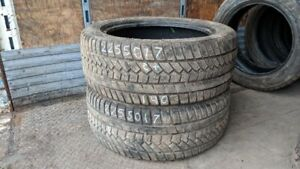Pair of 2 Mirage MRW562 225/50R17 WINTER tires (65% tread life)