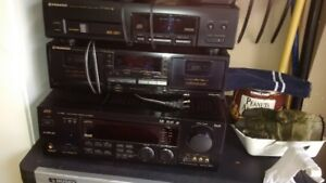 JVC Reciever & Pioneer Disc Player