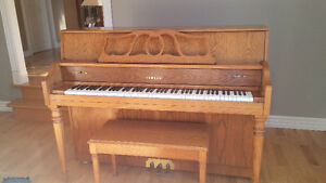 Yamaha M500F Light Oak Upright Piano