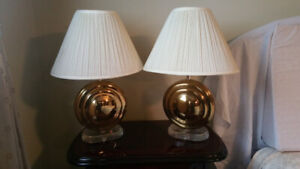 Table Lamps with Brass and Acrylic Bases