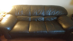 2 leather couches 3 seats