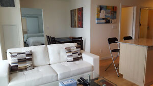 Dec 1: Furnished 1 Bedroom + Den downtown @ Maple leaf sq