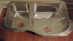 Kindred Double Offset Undermount Kitchen Sink -- brand new