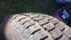 225/75 R15 Studded Tires on Wheels
